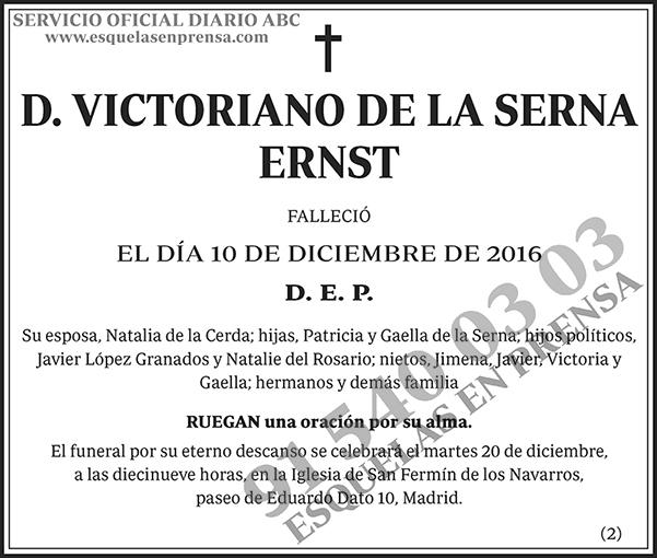 Victoriano de la Serna Ernst
